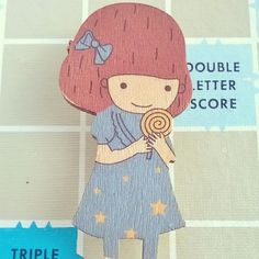 Super sweet wooden Girl Brooch 6 last one available in our Etsy Shop: http://ift.tt/1Fd2xMi  #etsy #Etsy #etsyshop #etsyshare #etsyfinds #etsyuk #favehandmade #TheEtsyBoutique #girl #wood #wooden #badge #badges #brooch #pin #pins #cute #kawaii #accessories #handmade #Hebdenbridge #westyorkshire #Yorkshire #UK #gift #gifts by tigerlilyboutique