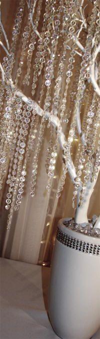 Crystal Wedding Tree with Rhinestone Vase