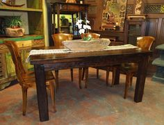 Amazing Rustic Dining Table
