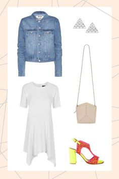 Ready-For-Spring Outfits To Start The Season #refinery29  http://www.refinery29.com/spring-2015-outfit-ideas#slide-4  Dust off your denim jacket and invest in an airy, white dress. They're made a thousand times funkier when styled with neon sandals, FYI.