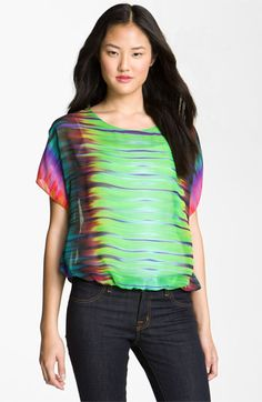 Vince Camuto 'Mirror Rainbow' Sheer Blouse available at #Nordstrom