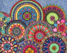 Mandala Parade Poster Print by Hello Angel Online On Sale at Wall Art Store – Posters-Print.com