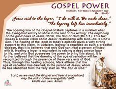 Gospel Power - January 14, Thursday, 1st Week in Ordinary Time