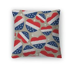 July 4th home décor is not only patriotic and American but also trendy and cute. Use red, white and blue colors along with some cute july 4th decorative accents to make your home a truly patriotic place for family and friends. Gear New Pattern For 4th Of July, Americ Throw Pillow With Removable Cover, Poplin, 26x26, GN909