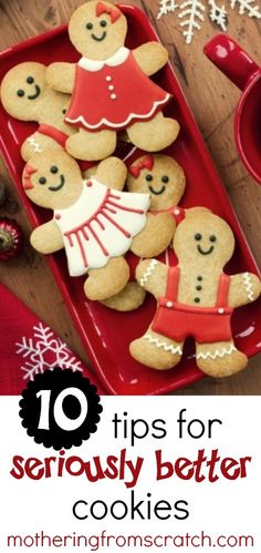 Want this year's Christmas cookies to be the best EVER? Here are some great cookie tips for getting great results from all your labor of Christmas love! Check out these simple tips for mouthwatering, delicious cookies! Decorating Gingerbread Cookies, Best Gingerbread Cookie Recipe, Gingerbread Man Cookies, Cute Cookies, Christmas Sugar Cookies, Gingerbread Icing, Cookie Decorating, Cupcake Cookies, Cookie Tips