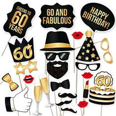 60th Birthday Props by PartyGraphix. Perfect for 60th Bir...