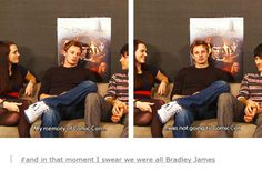 I know how you feel Bradley. But I don't think he means it in a sad way like I do...