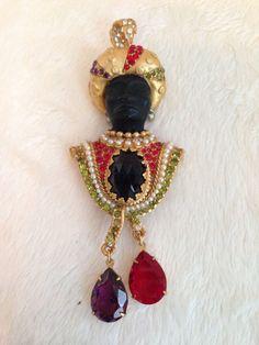 ASKEW LONDON NUBIAN MORETTI BLACKAMOOR KING Pin Brooch   eBay
