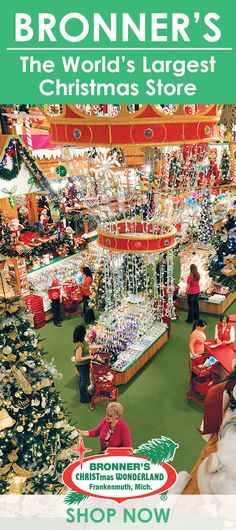 Bronners Christmas Wonderland.Bronner S Displays Inside And Out