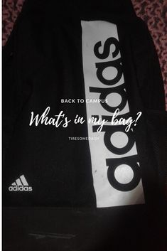 We love an Adidas Backpack What's in my bag? Adidas Backpack, What In My Bag, Uplifting Quotes, My Bags, Student, Backpacks, How To Plan, Logos, Motivating Quotes