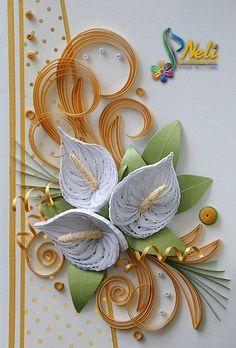 Neli Quilling Art: Calla lily