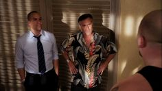 """Burn Notice 5x04 """"No Good Deed"""" - Sam Axe (Bruce Campbell), Jesse Porter (Coby Bell) & Griffin Black (The Big Show)"""