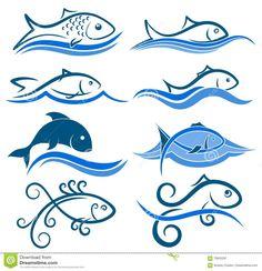 Resultado de imagem para logos de pescados y mariscos