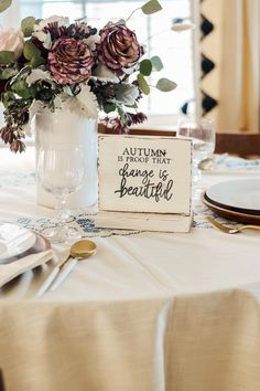 Autumn Mini Sign by Aimee Weaver Designs Dining Room Inspiration, Reclaimed Barn Wood, Farmhouse Decor, Great Gifts, Room Ideas, Autumn, Table Decorations, Design, Fall