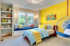 Fresh yellow mix children's room effect chart 2016