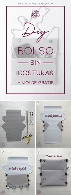 DIY: Bolso sin costuras + molde gratis. – Nocturno Design Blog Design Blog, Sewing Patterns Free, Easy Diy, Home Decor, Jeans, Clothes, Diy Tutorial, Handmade Fabric Bags, Sewing Diy