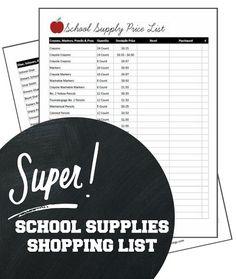 Back to School Supplies Price List | http://www.passionforsavings.com/back-to-school-supplies-price-list/