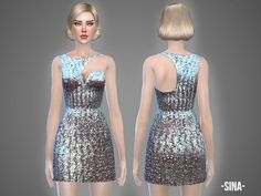 Sina dress by April at TSR via Sims 4 Updates 50 Fashion, Fashion Dresses, Sims 4 Clothing, Female Clothing, Sims 4 Update, Coat Dress, Shorts, Striped Dress, Clothes For Women