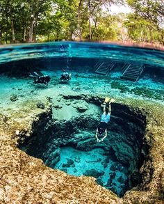 Crystal clear waters of Ginnie Springs, Florida.
