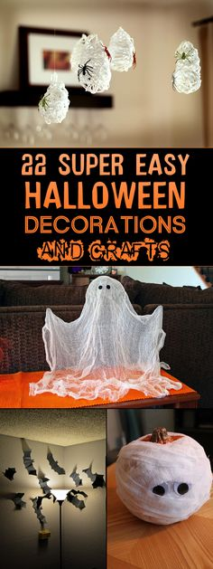Halloween Spider Balloons Designs, Transforming and Halloween ghosts - diy halloween party decorations