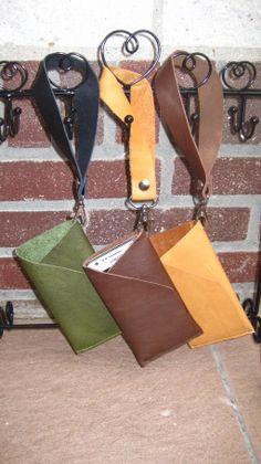 Handmade leather phone case.