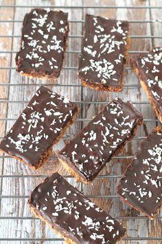 healthy coconut chocolate flapjacks