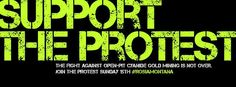 support the protest - london banner