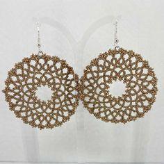 "Ohrringe ""Rosalie"" Salzburg, Crochet Earrings, Metallic, Jewelry, Beads, Threading, Schmuck, Jewlery, Jewerly"
