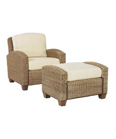 Look at this Honey Cabana Banana Chair & Ottoman on #zulily today!