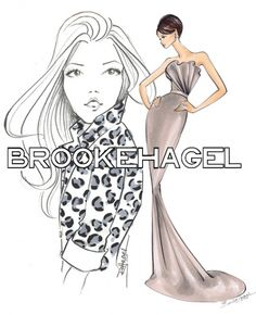 """""""There's Something about Brooke""""   Look Republic, Fashion Illustrator Brooke Hagel"""