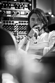 dave grohl--probably the coolest guy in the rock world today. Someone who actually cares about the quality of what he puts out into the world, with is sadly lacking with most musicians these days.