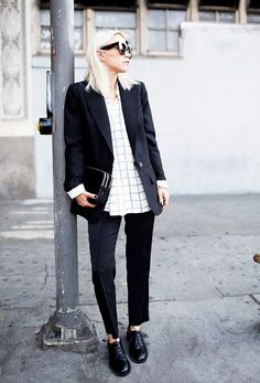 Always Judging via @WhoWhatWear Loving the Menswear Look this fall, I want this entire outfit...LOVE!