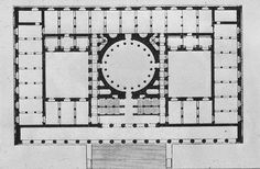 Karl Friedrich Schinkel, Altes Museum Berlim, 1823- 1830 - planta baixa