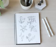 Floral Illustrations, Botanical Illustration, Sketches, Flowers, Inspiration, Drawings, Biblical Inspiration, Sketch, Royal Icing Flowers