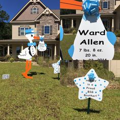 Hubert, NC~  Crystal Coast Storks & More is Stork Lawn Sign Birth Announcement Rental Business serving Onslow County, NC! Call us to rent one of our beautiful storks to welcome home your new baby! Don't forget to order a sibling star to make the big brother or big sister feel special too!  (910) 381-5679