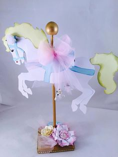 Carousel Horse Centerpiece - Carousel Party - Carousel Birthday - Carousel Baby Shower - Carousel Decoration - Carousel Theme - Pastel Party