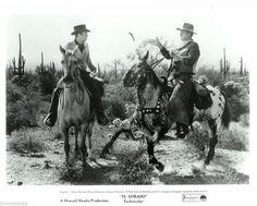 JOHN WAYNE Cowboy on Horse JAMES CAAN 1966 EL DORADO PHOTO Western