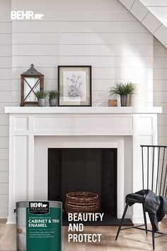Fireplace Redo, Farmhouse Fireplace, Fireplace Remodel, Fireplace Design, Shiplap Fireplace, Fireplace Ideas, Living Room Remodel, My Living Room, Home And Living