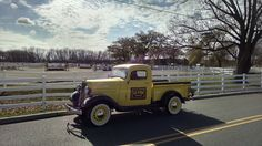 1936 Chevrolet 1/2 Ton Pickup Truck at horse stables - arena. (trades considered)