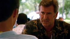 """""""Larry? Dead Larry?"""" [Sam]  Pictured: Michael Westen (Jeffrey Donovan) and Sam Axe (Bruce Campbell)"""