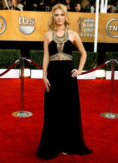 January Jones wore a Grecian-inspired Andrew Gn dress to the 15th Annual Screen Actors Guild Awards