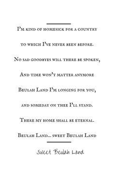 Sweet Beulah Land Lyrics (Hymn)