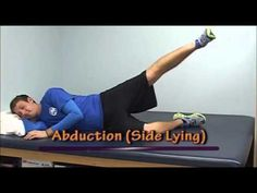 Great exercises to strengthen hips. Patients with hip weakness will benefit by these exercises. Strengthen Hips, Hip Strengthening Exercises, Hip Workout, Workouts, Lifestyle Changes, Physical Therapy, Get Well, Excercise, Health Fitness
