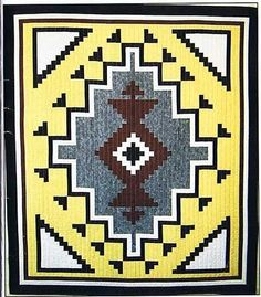 Two Gray Hills Native American Quilt Pattern by J Michelle Watts Designs at Creative Quilt Kits