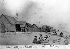 Delaware Beaches.  First Cottages at Kitts Hummock.  1888.