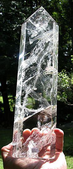 Tall polished quartz. Brazil