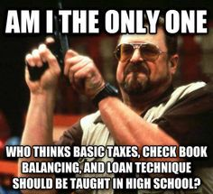 Things that should be taught in high school…