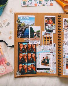 Couple Scrapbook, School Scrapbook, Diy Scrapbook, Scrapbook Albums, Scrapbook Ideas For Couples, Best Friend Scrapbook Ideas, Scrapbook Ideas For Boyfriend, Scrapbook Photos, Handmade Scrapbook