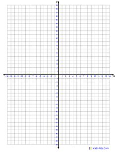 Four Quadrant Graph Paper One Graph Per Page.  Graph Paper Word Document