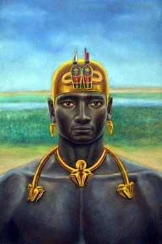 Taharqa was a pharaoh of the Ancient Egyptian dynasty and king of the Kingdom of Kush, which was located in Northern Sudan. Kemet Egypt, Egyptian Pharaohs, Ancient Egyptian Art, Egyptian Beauty, African Royalty, Les Religions, Afro Art, African Diaspora, African History